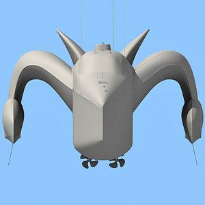 3d earthrace boat submarine model
