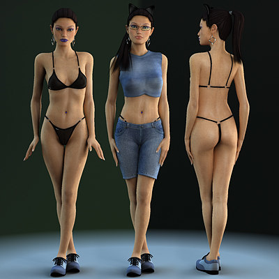 3d linda 5 realistic female