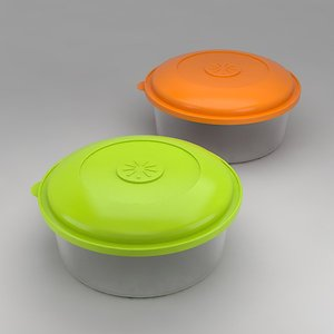 3ds max tupperware food