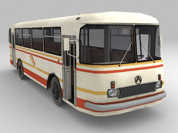low-poly bus 3d model