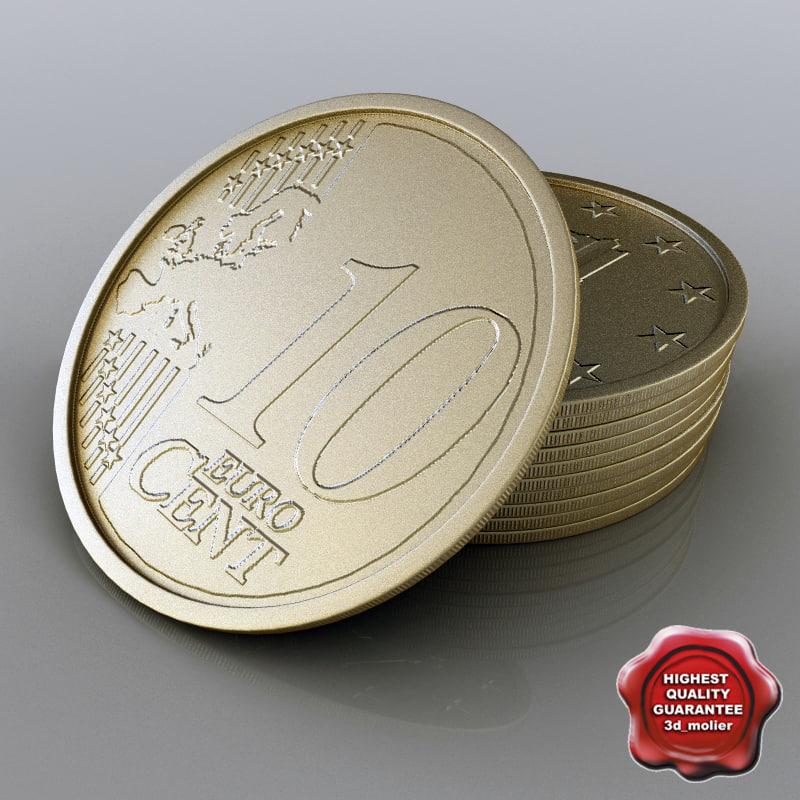 3d model 10 euro cent