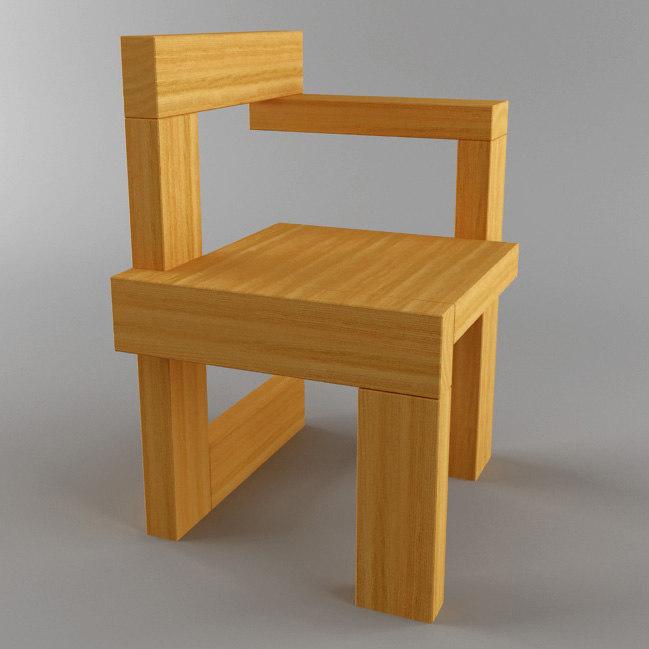 3d steltman chair model for Sedia steltman