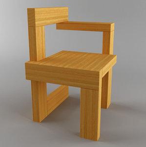 3d steltman chair model
