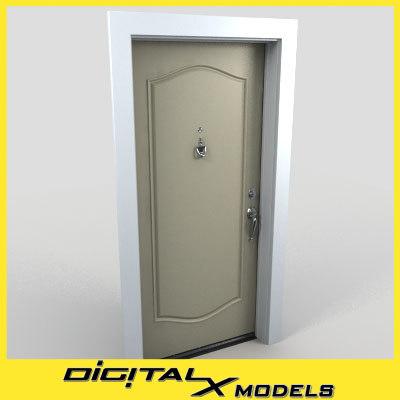 residential entry door 12 3d model