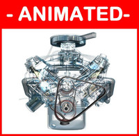 V8 Engine Fully Animated / Textured / FX