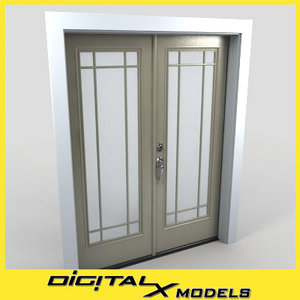 3d model residential entry door 26