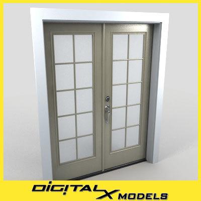 3d model residential entry door 29
