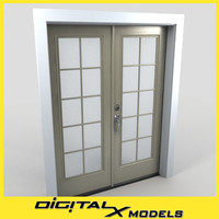 3d model residential entry door 29