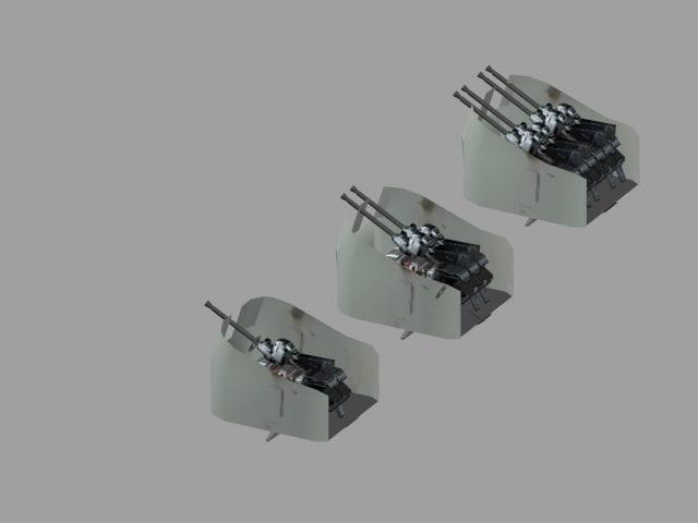 weapon single wwii 3d model