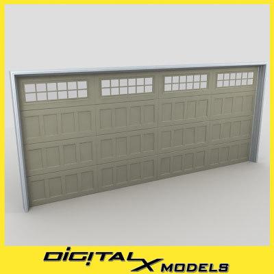 3d residential garage door 01 model