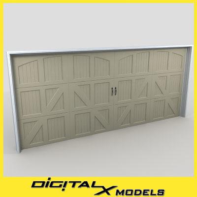 residential garage door 06 3d 3ds