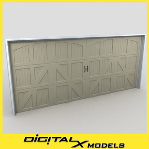 residential garage door 06 3d 3ds