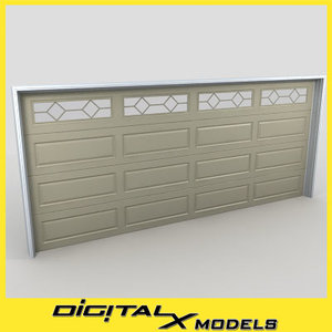 residential garage door 11 3ds