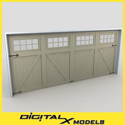 3d model residential garage door 17