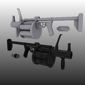 russian grenade launcher 3d max