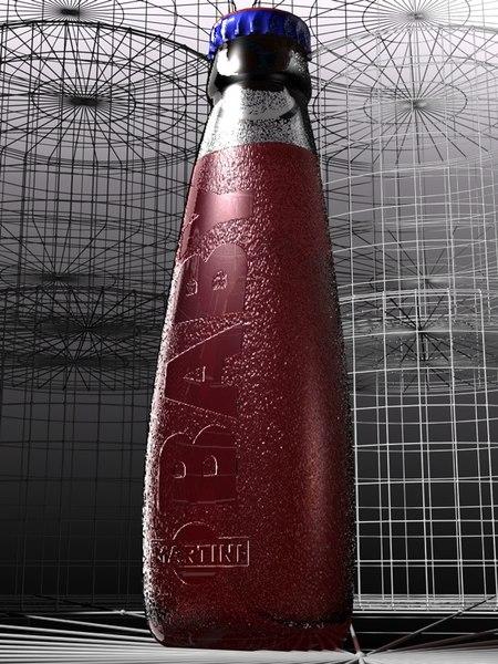 3d model baby martini bottle