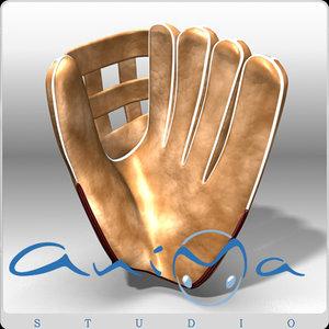 3d model baseball glove cartoon