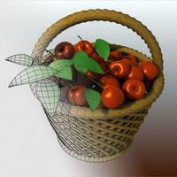 3ds cherries basket