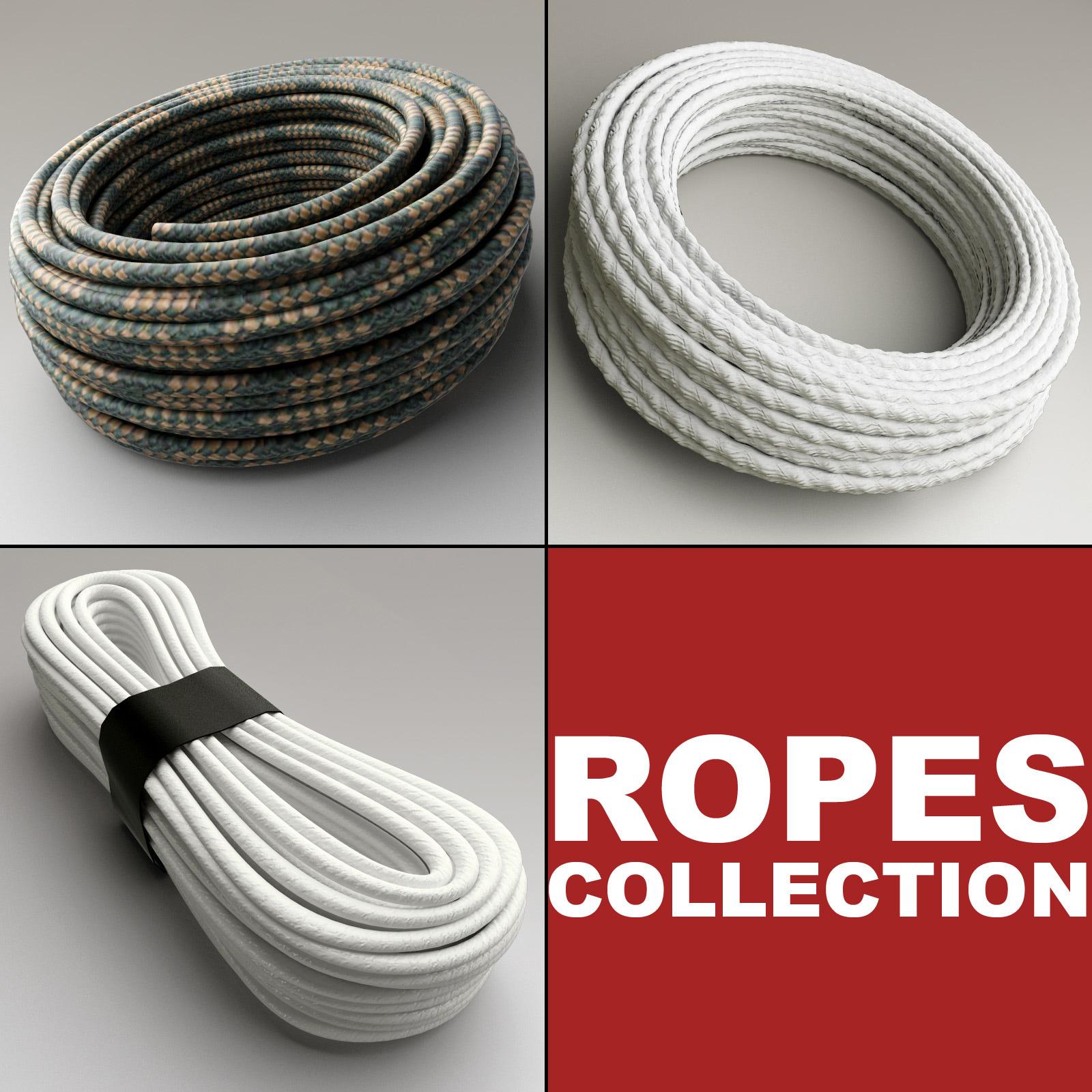 ropes set modelled 3d model