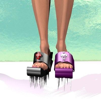 3d evil heel shoe model