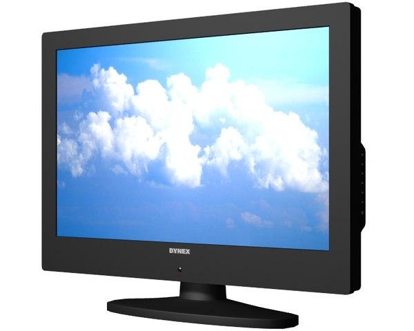 3d model dynex 720p hdtv v01