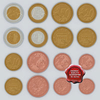 Euro coins collection