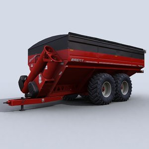 grain cart 1 3d model