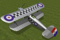3ds max hawker fury fighter mk1