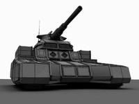 Sci-fi Howitzer Tank