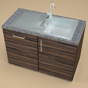 3ds max stainless steel kitchen sink