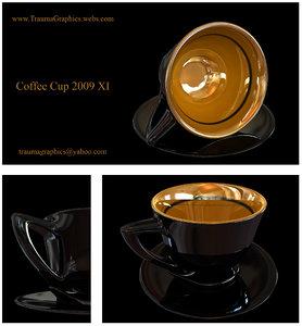 3d highend coffee cup model