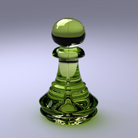3d model photorealistic chess pawn