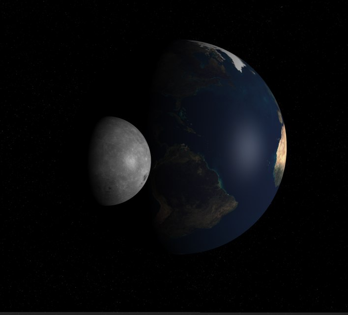 cinema4d animation earth moon