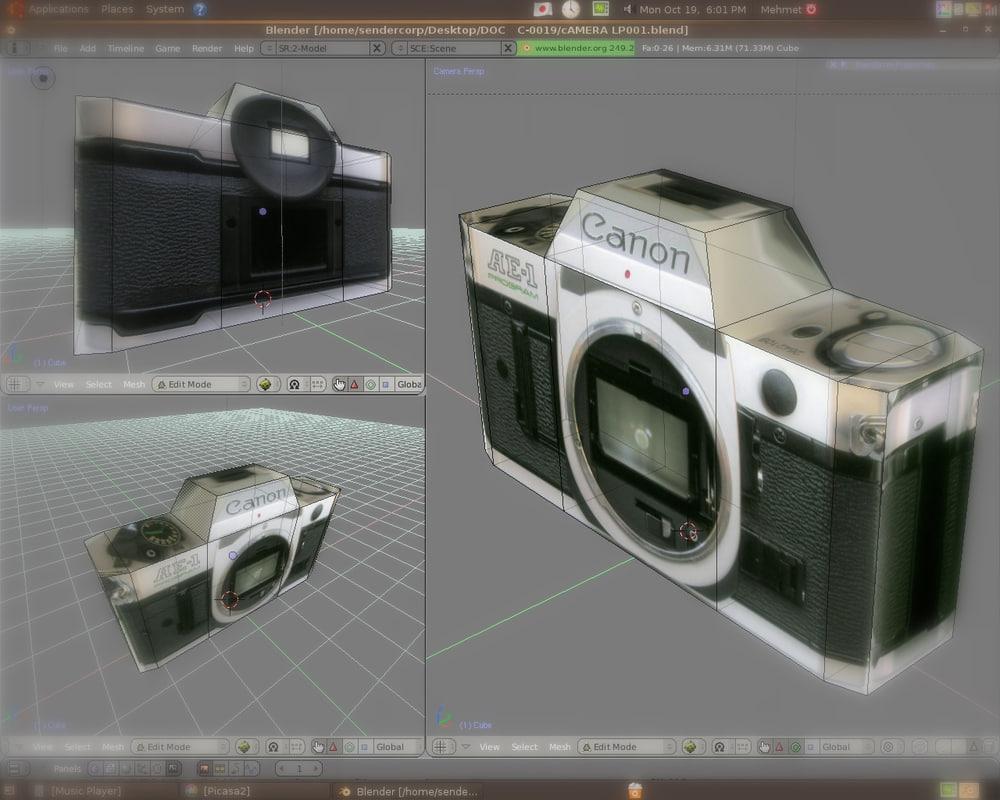 3d slr lens body