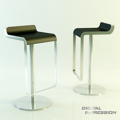 place chair 3d max