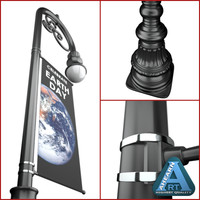 Street Lamp with Banner