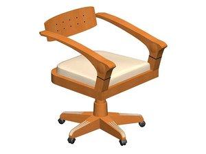 armchair giorgetti 3d model