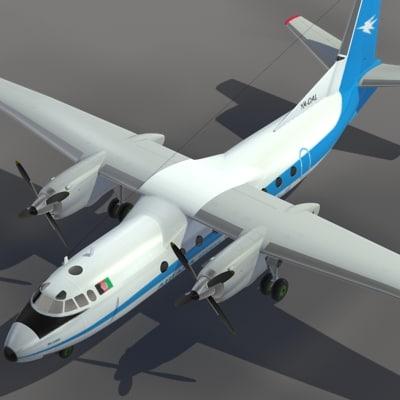 maya aircraft an-24 transport ariana