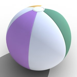 beach ball toy 3d model