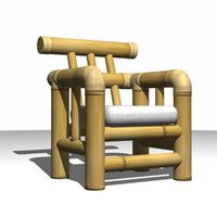 bamboo chair 3d max
