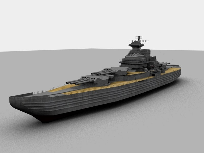 3d futuristic battleship