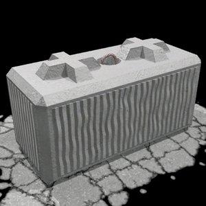 3d barrier block