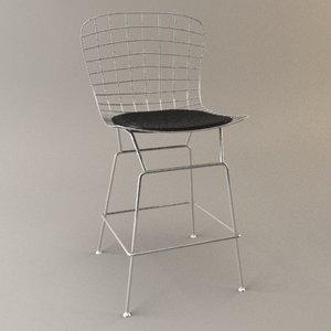 bertoia bar kitchen stool 3d max