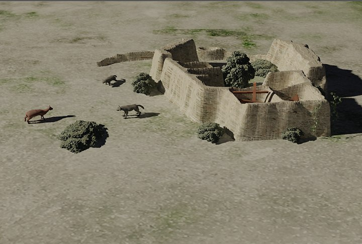 wall archaeological 3d model