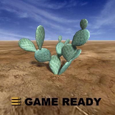 beaver tail cactus 3d 3ds