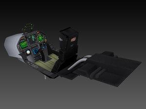 max f-18 fighter jet cockpit