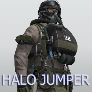 navy seal halo jumper 3d model