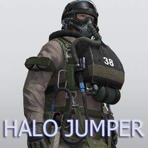 navy seal halo jumper 3d model