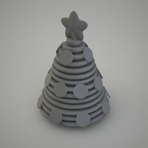 3d model stylized christmass tree