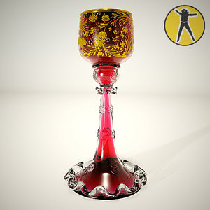 3ds max antique crystal cup